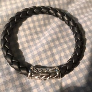 Men's David Yurmin rubber bracelet